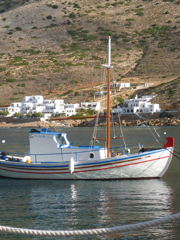 Traditional boat in Sifnos